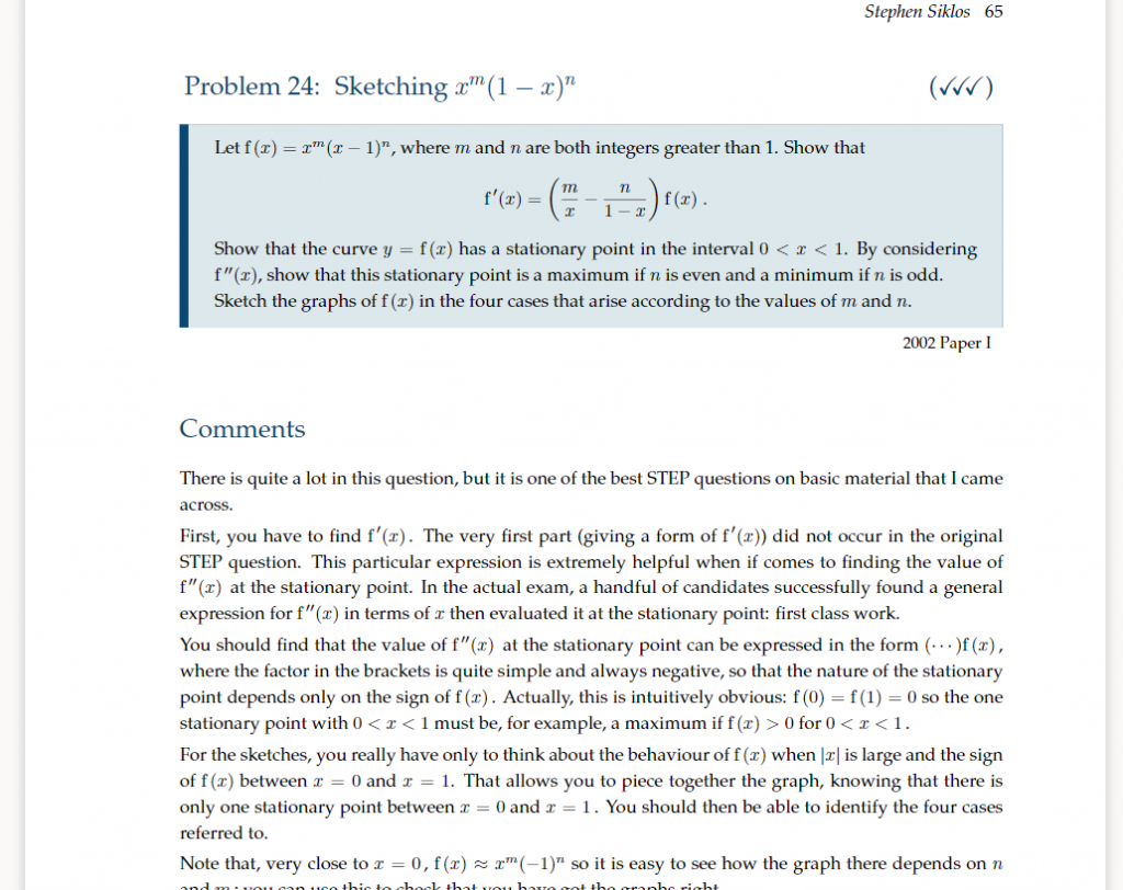 'Advanced Problems in Mathematics' by Stephen Siklos